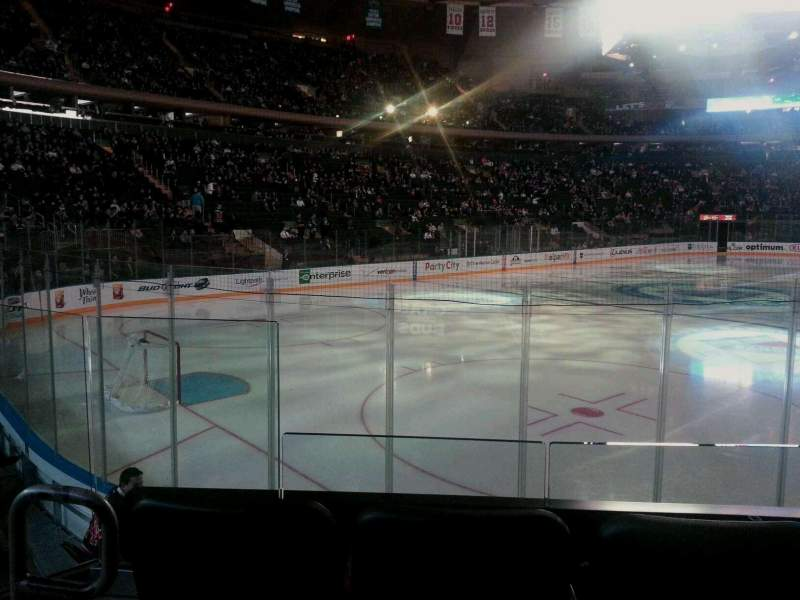 Seating view for Madison Square Garden Section 104 Row 7 Seat 3