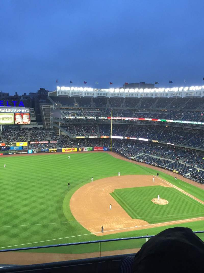 Seating view for Yankee Stadium Section 426 Row 3 Seat 20