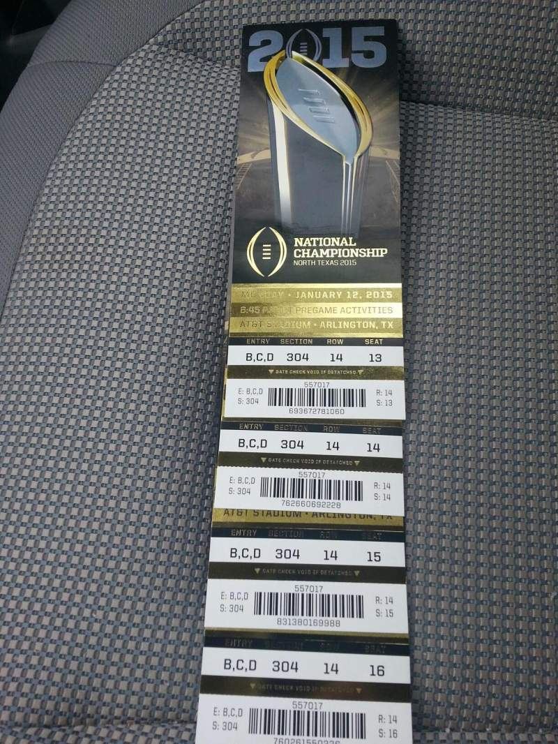AT&T Stadium, section: 304, row: 14, seat: 14