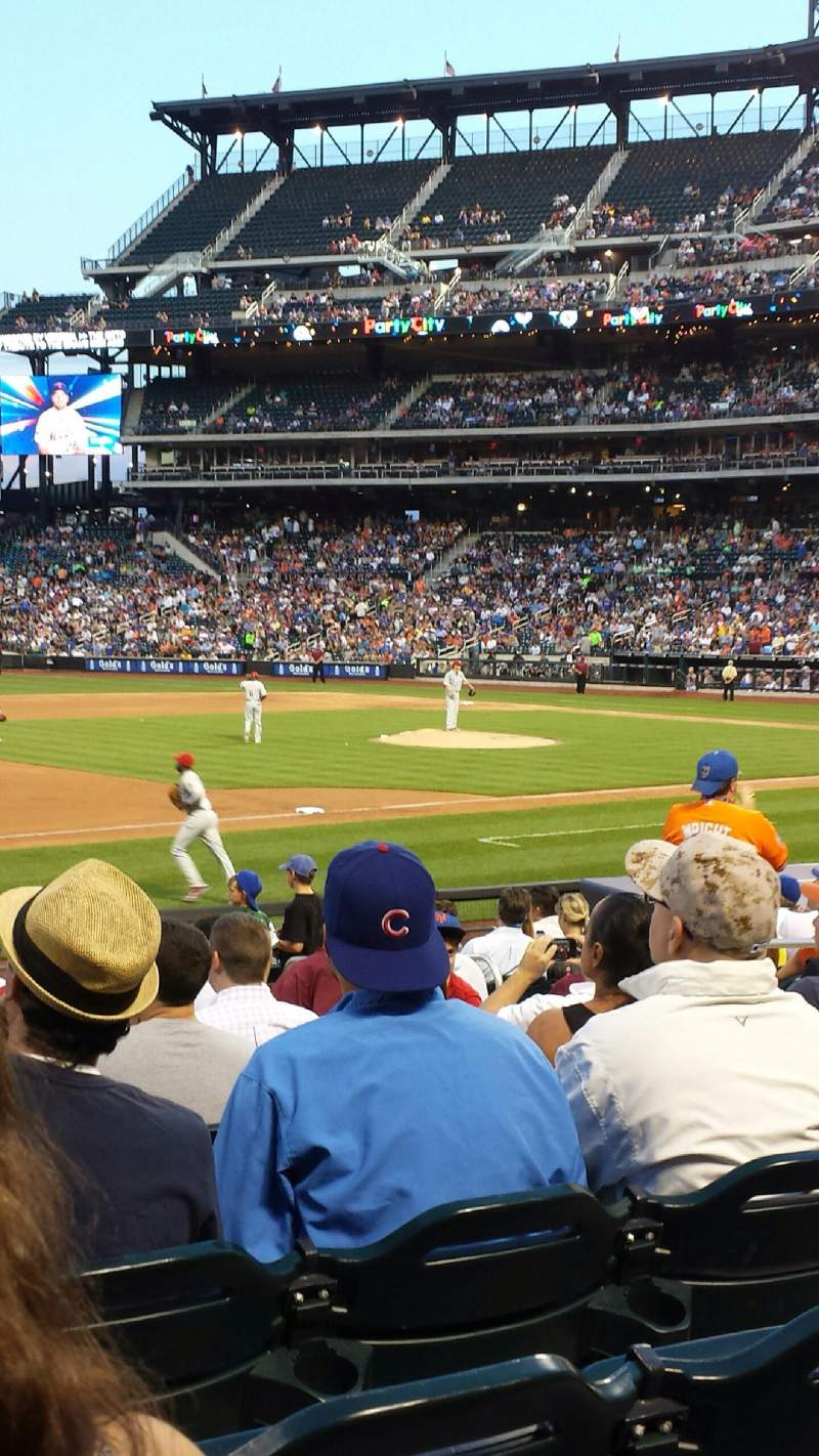 Seating view for Citi Field Section 124 Row 14 Seat 10