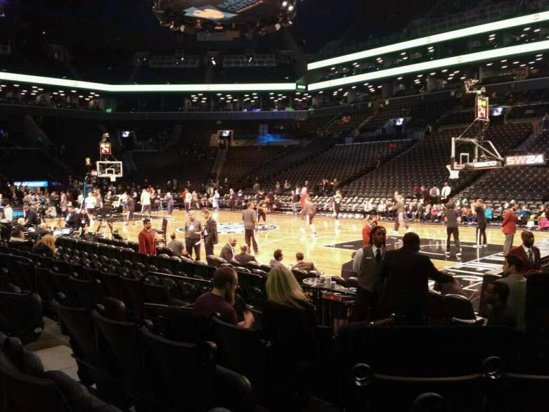 Seating view for Barclays Center Section 4 Row 6 Seat 2