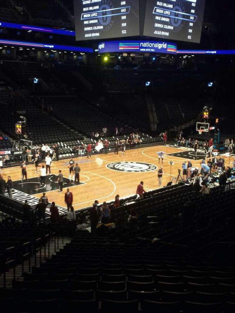 Seating view for Barclays Center Section 112 Row 4 Seat 5