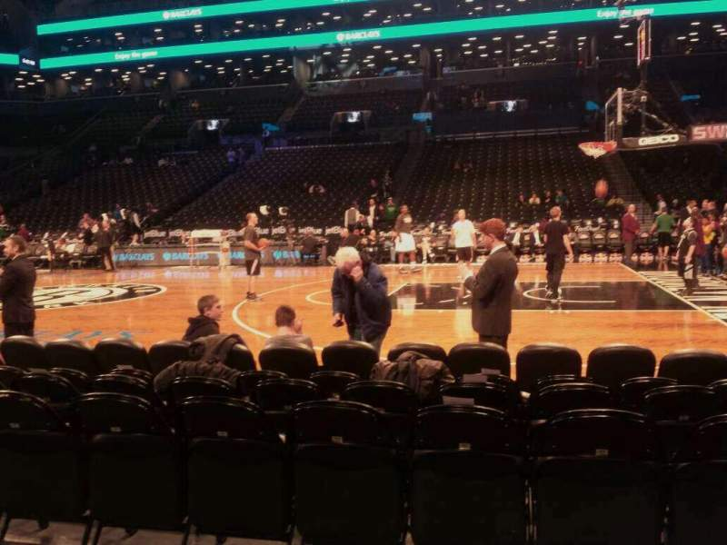 Seating view for Barclays Center Section 23 Row 2 Seat 8