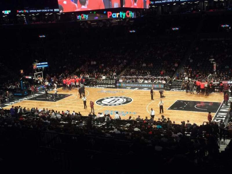 Seating view for Barclays Center Section 122 Row 8 Seat 4