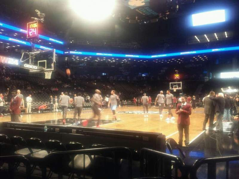 Seating view for Barclays Center Section 13 Row E Seat 11