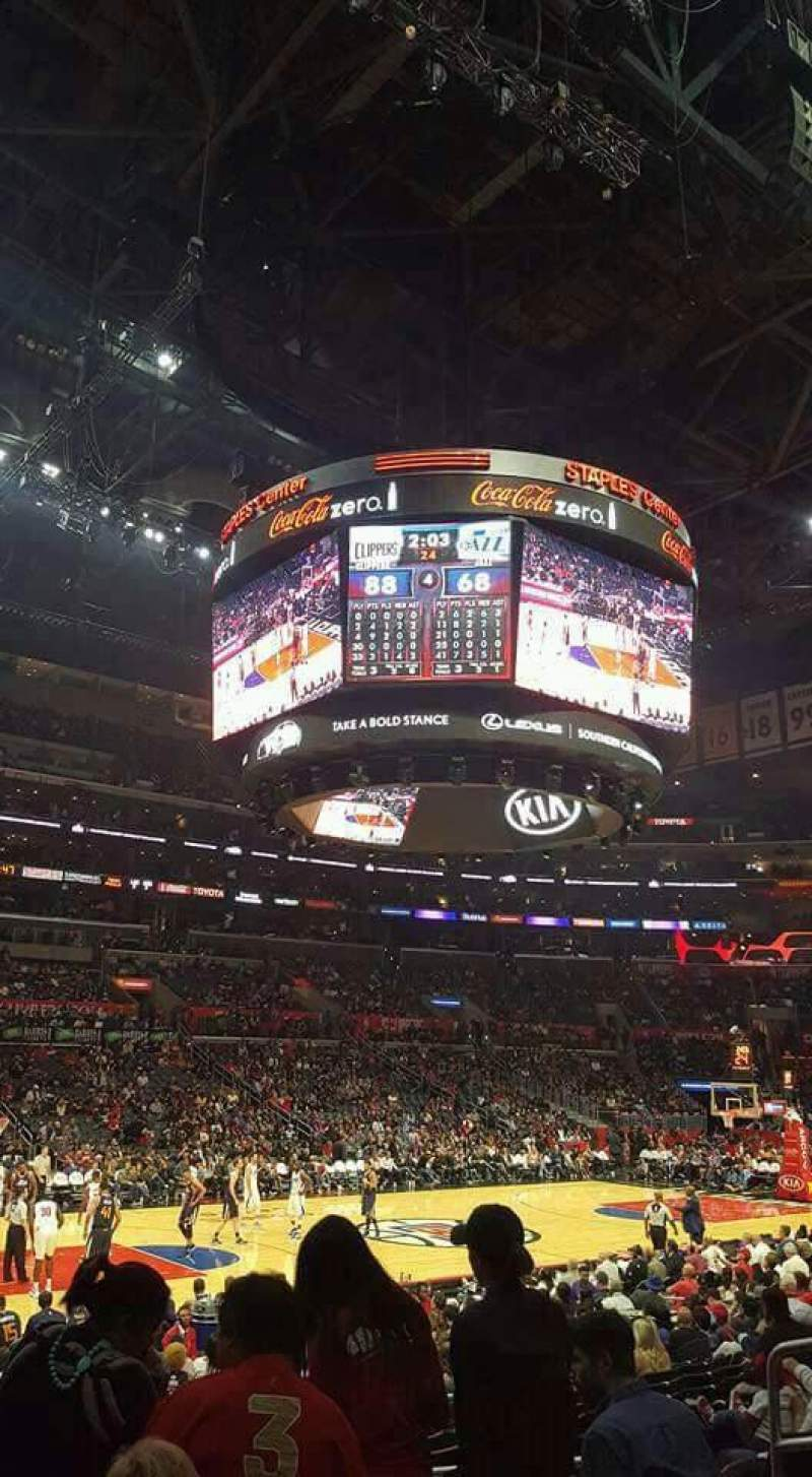 Seating view for Staples Center Section 103 Row 15 Seat 7