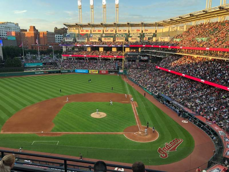 Seating view for Progressive Field Section 459 Row D Seat 4