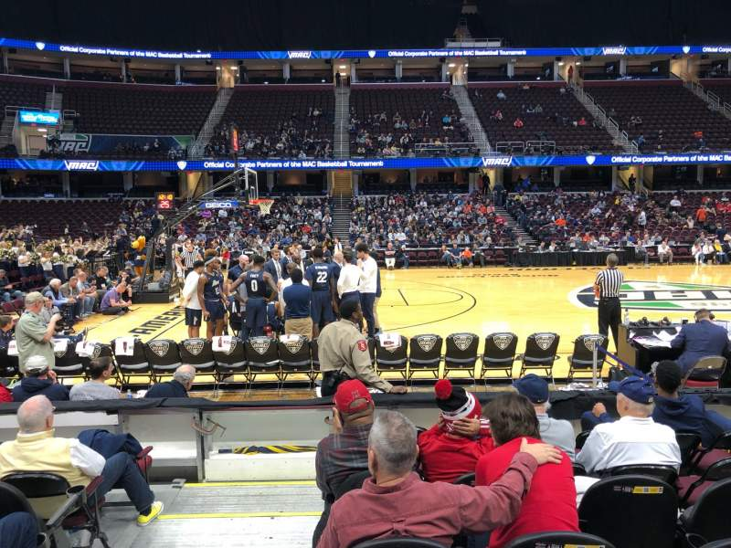 Seating view for Quicken Loans Arena Section 125 Row 7 Seat 1