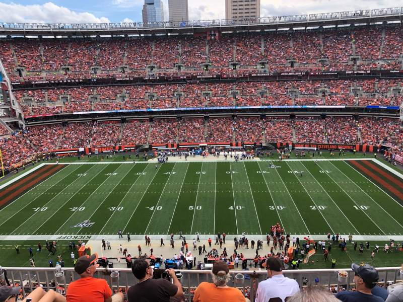 Seating view for FirstEnergy Stadium Section 534 Row 7 Seat 8