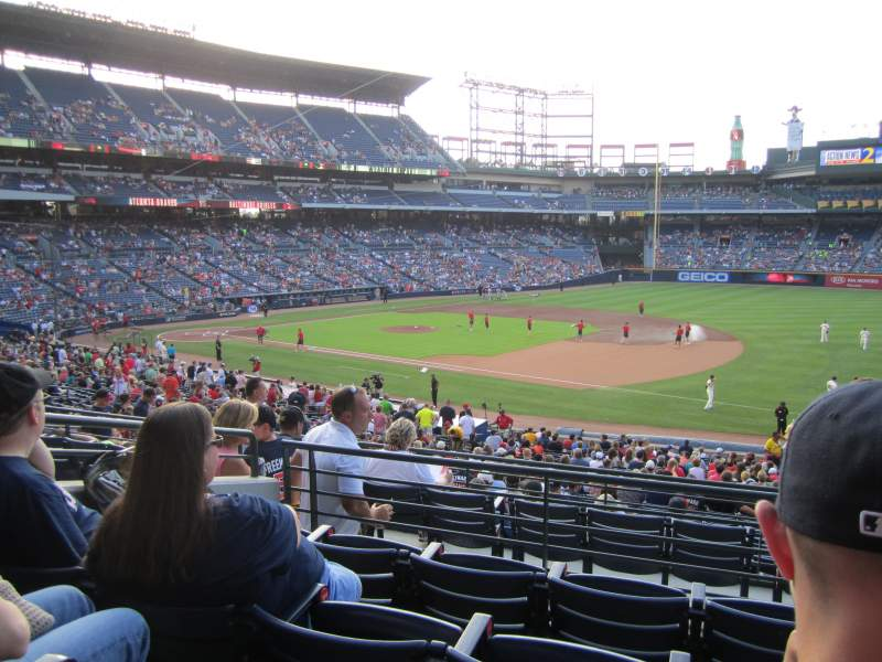 Seating view for Turner Field Section 219 Row 4 Seat 104