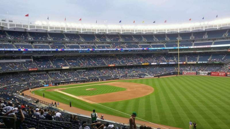 Seating view for Yankee Stadium Section 210 Row 18 Seat 12