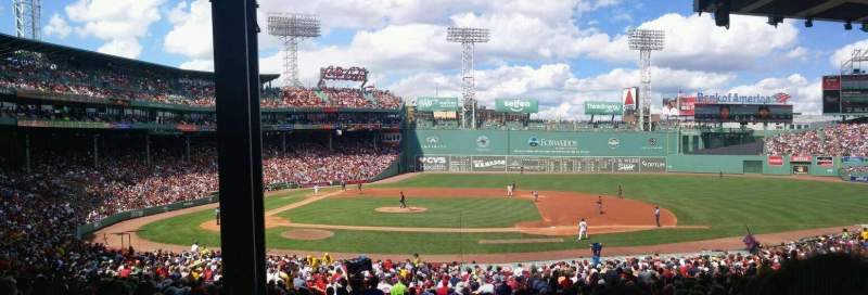 Seating view for Fenway Park Section grandstand 15 Row 8 Seat 22