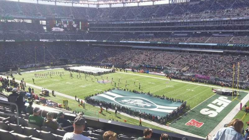 Seating view for MetLife Stadium Section 208 Row 9 Seat 13