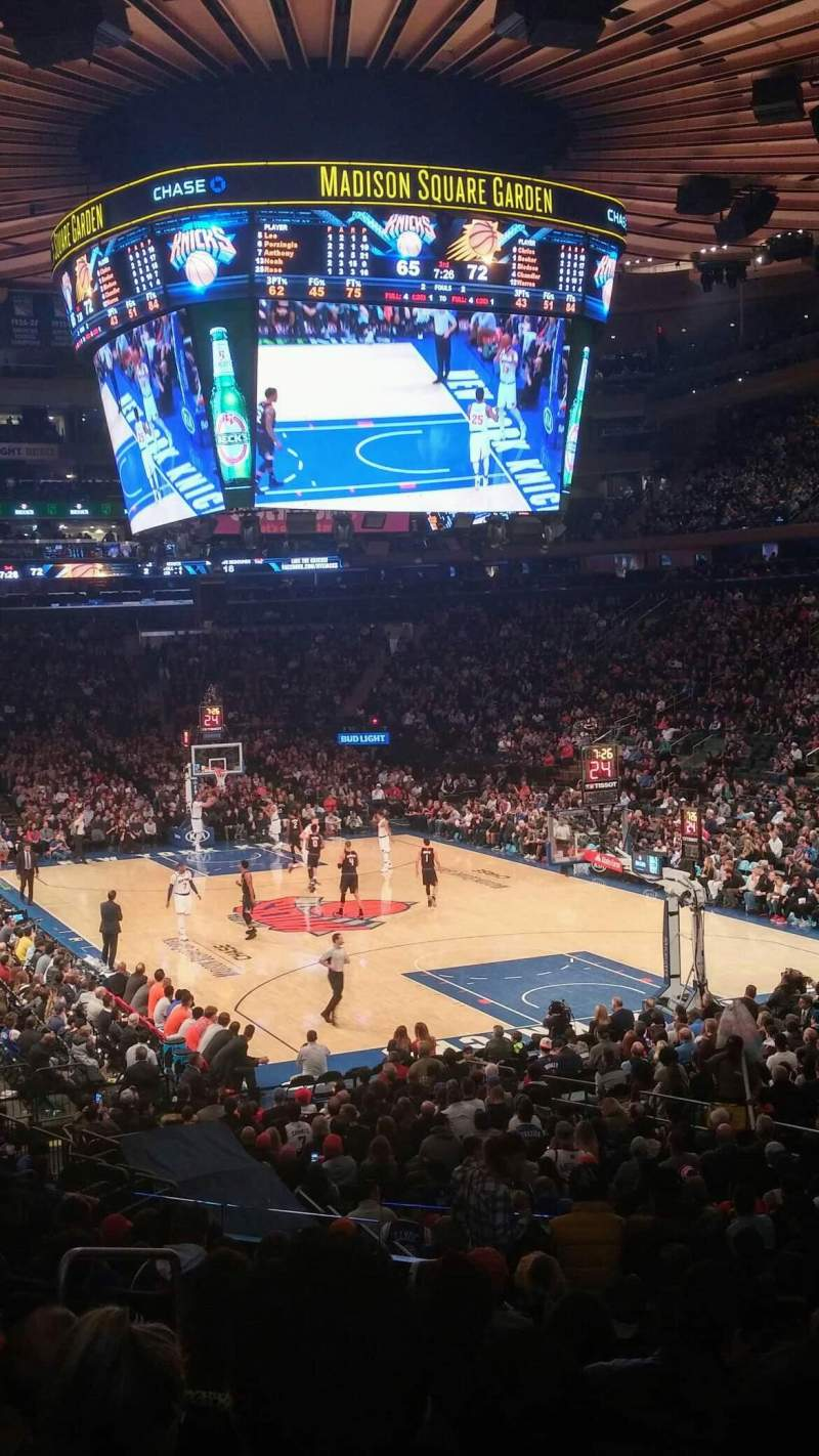 Madison Square Garden: Madison Square Garden, Section 111, Row 18, Seat 1