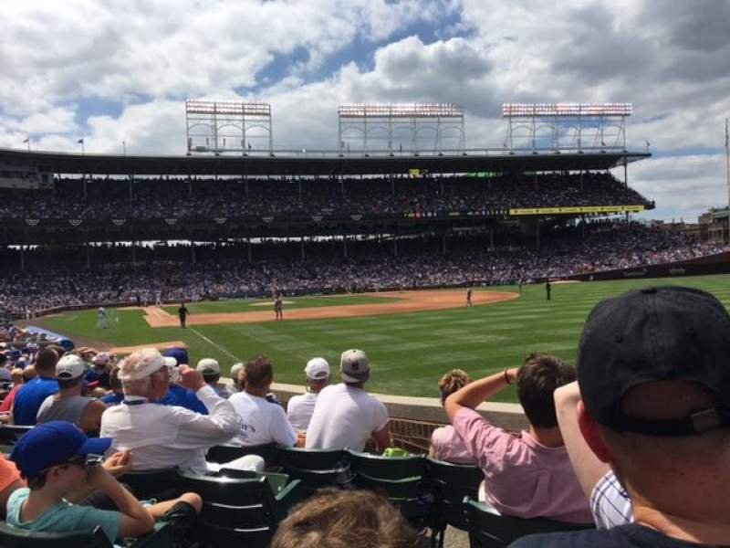Seating view for Wrigley Field Section 140 Row 6 Seat 1