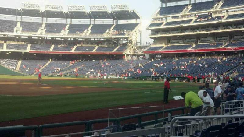 Seating view for Nationals Park Section 113 Row h Seat 6