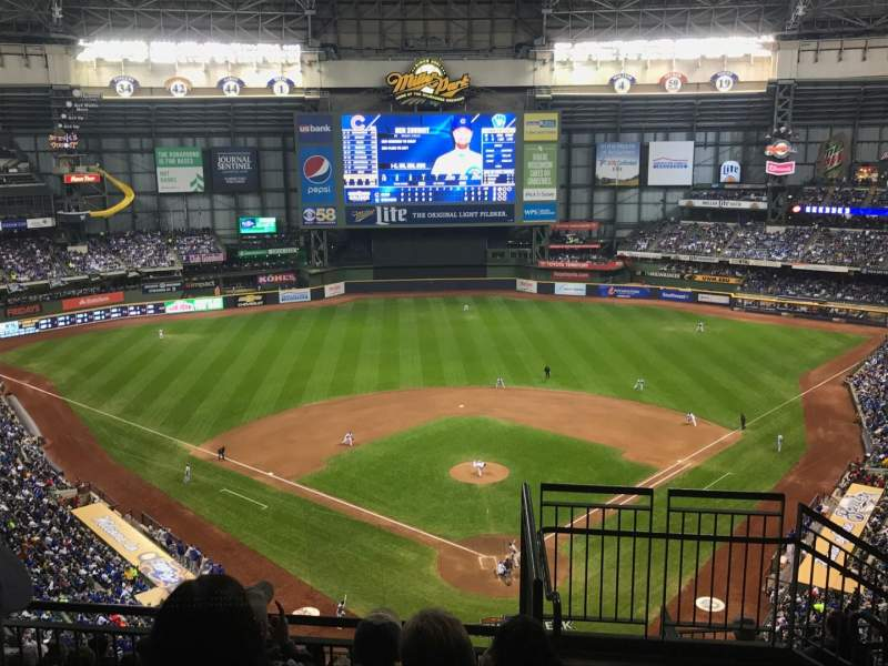 Seating view for American Family Field Section 423 Row 12 Seat 3