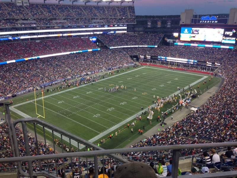 Seating view for Gillette Stadium Section 339 Row 2 Seat 18