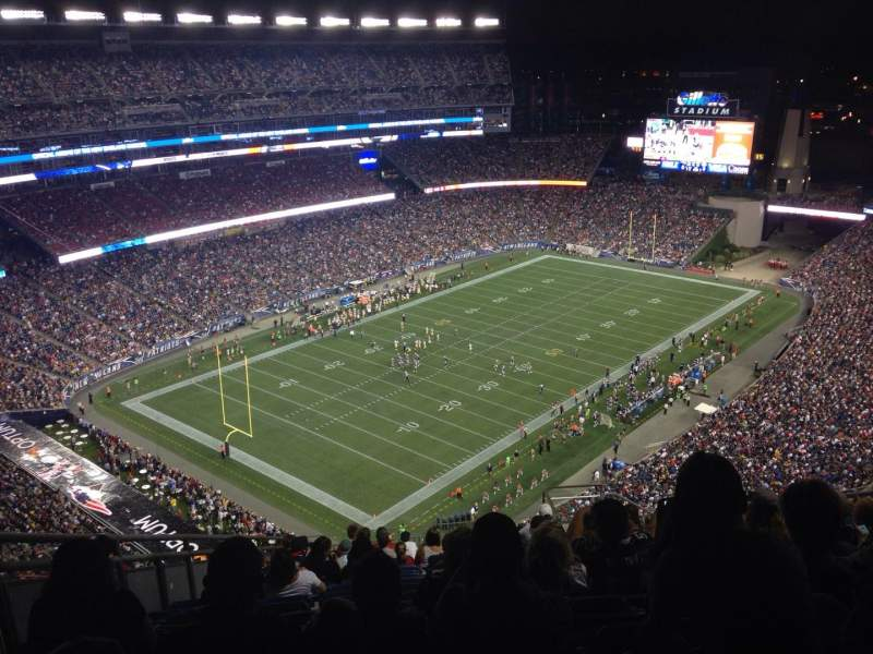 Seating view for Gillette Stadium Section 317 Row 11 Seat 17