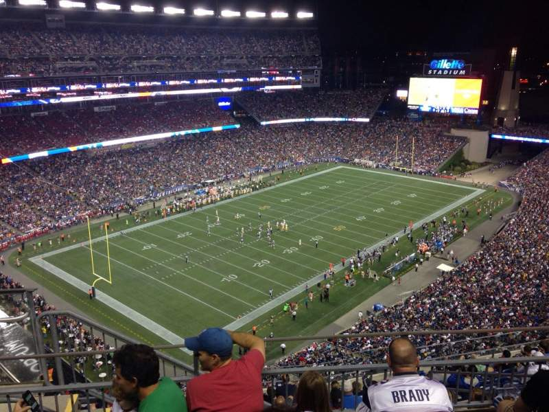 Seating view for Gillette Stadium Section 316 Row 4 Seat 1