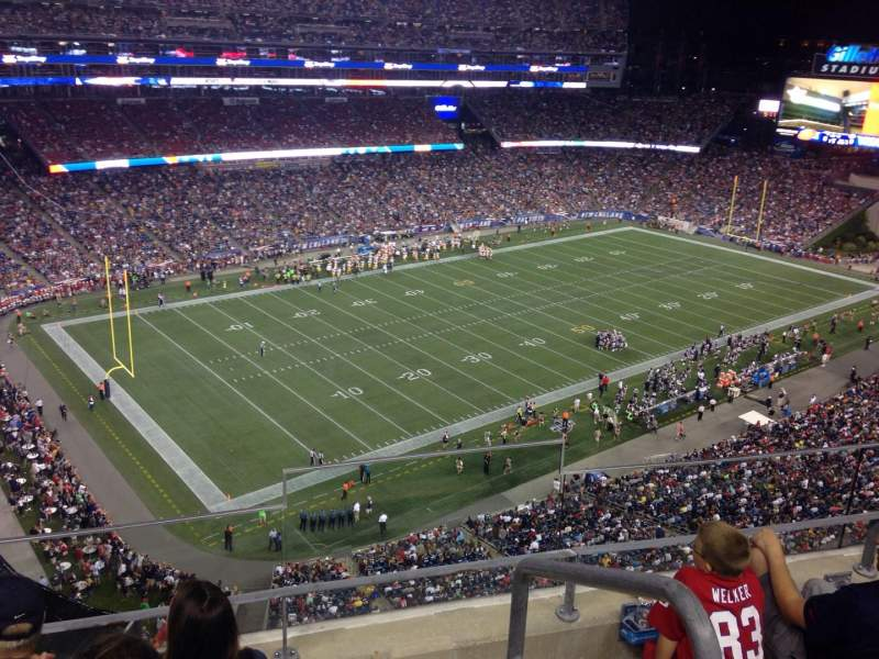 Seating view for Gillette Stadium Section 315 Row 14 Seat 2