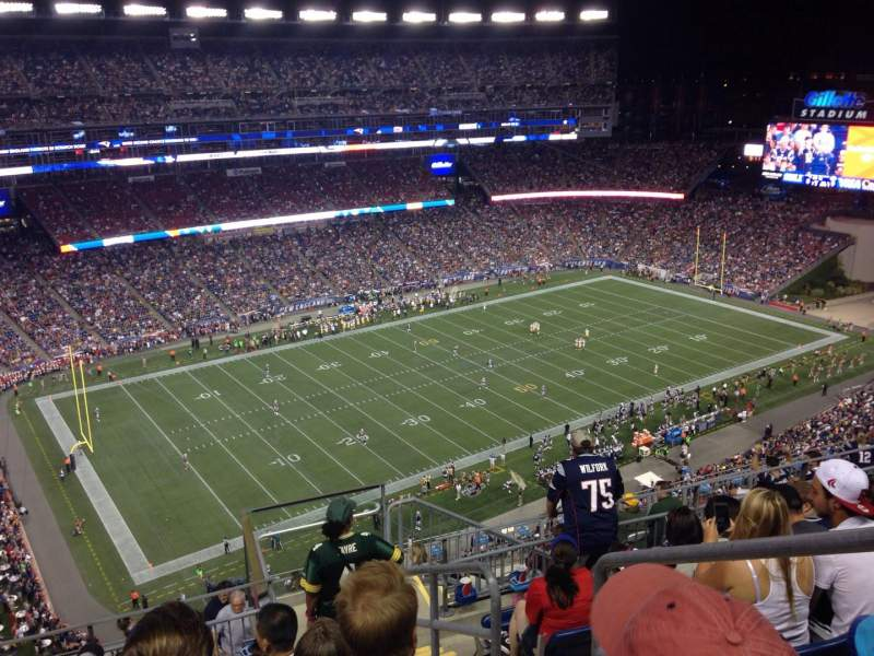 Seating view for Gillette Stadium Section 314 Row 12 Seat 20