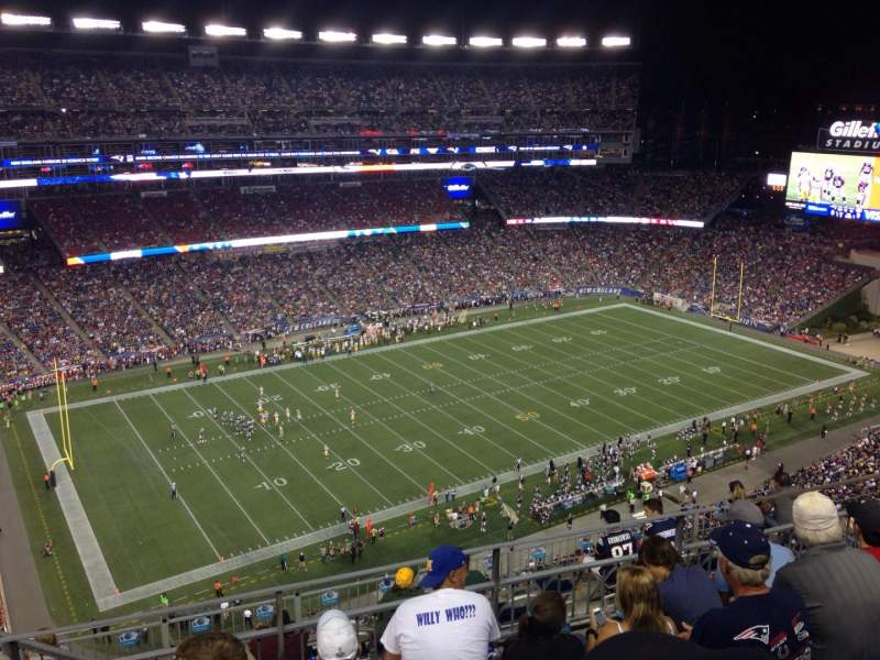 Seating view for Gillette Stadium Section 313 Row 7 Seat 16
