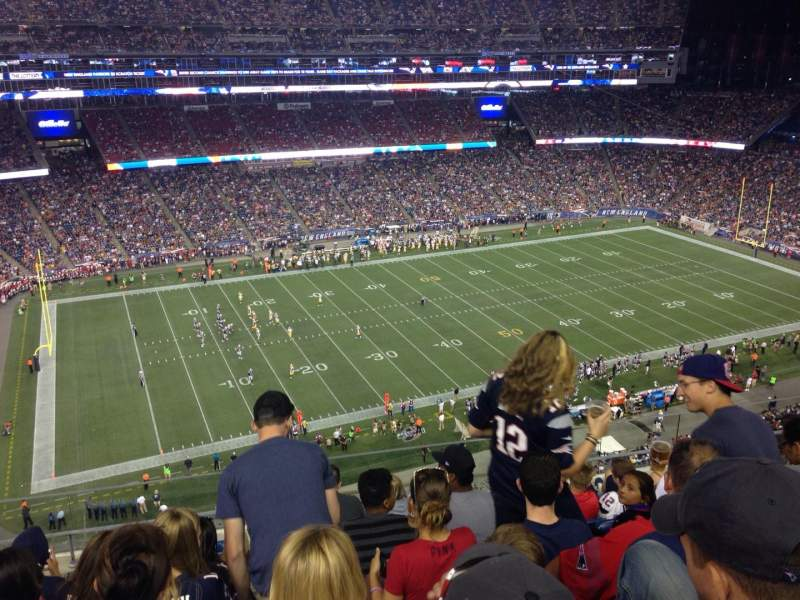 Seating view for Gillette Stadium Section 312 Row 7 Seat 3