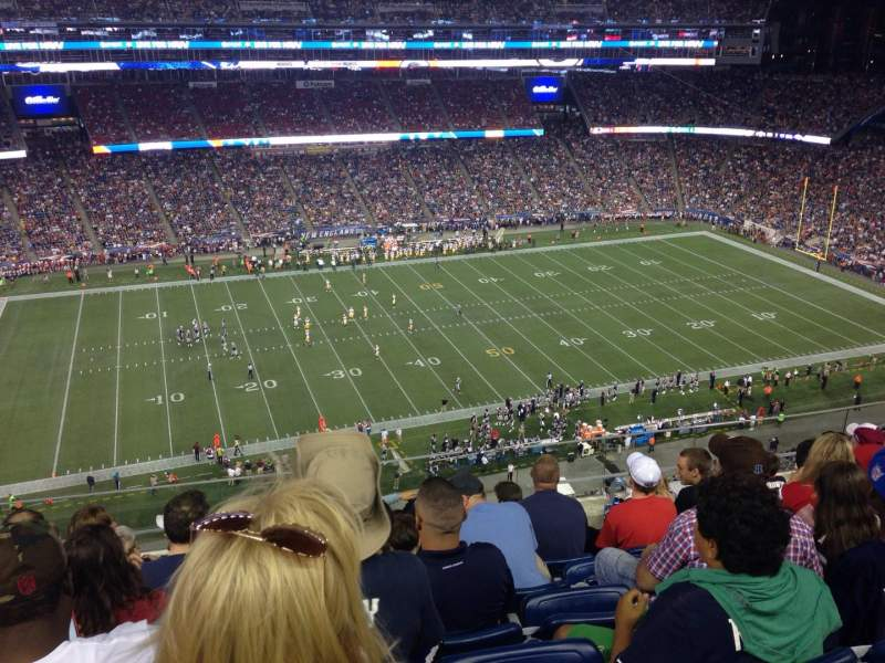 Seating view for Gillette Stadium Section 311 Row 17 Seat 1