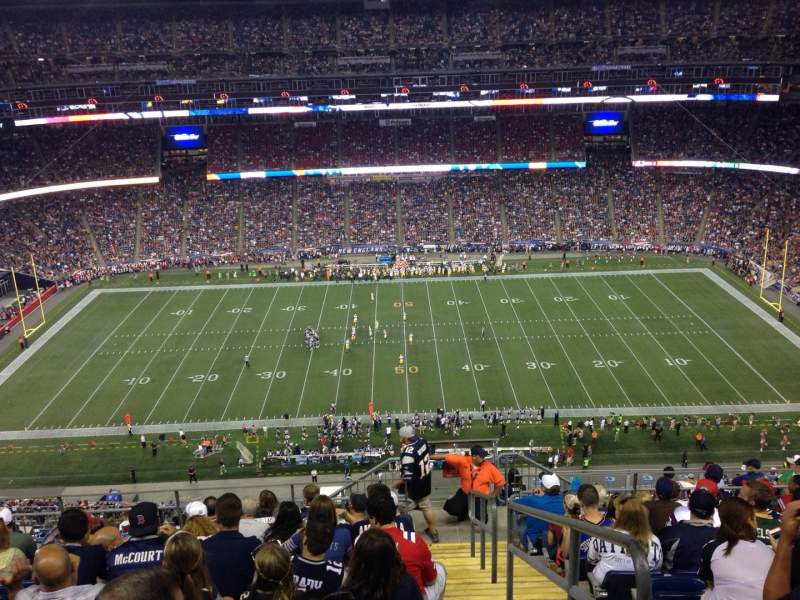 Seating view for Gillette Stadium Section 309 Row 19 Seat 22