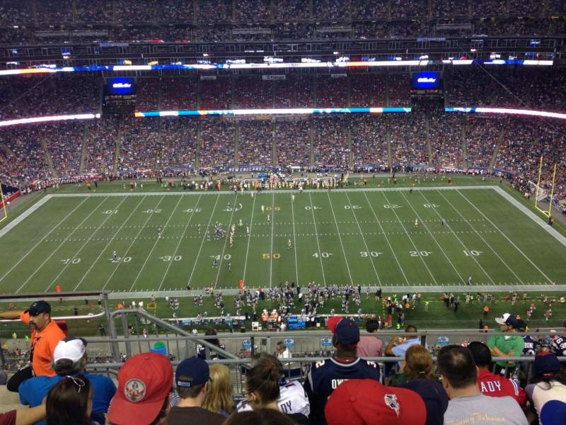 Seating view for Gillette Stadium Section 308 Row 11 Seat 19