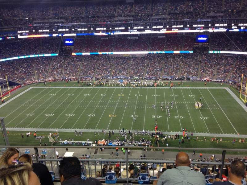 Seating view for Gillette Stadium Section 307 Row 10 Seat 23
