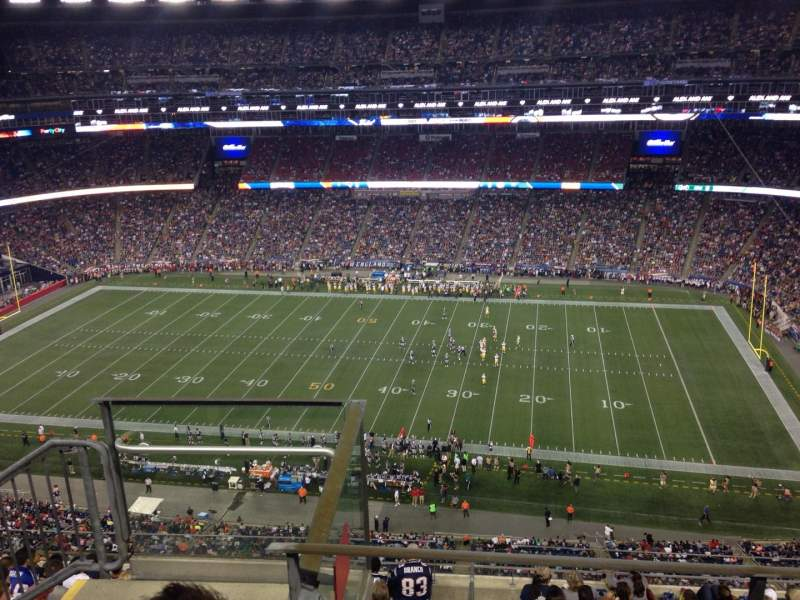 Seating view for Gillette Stadium Section 306 Row 7 Seat 25
