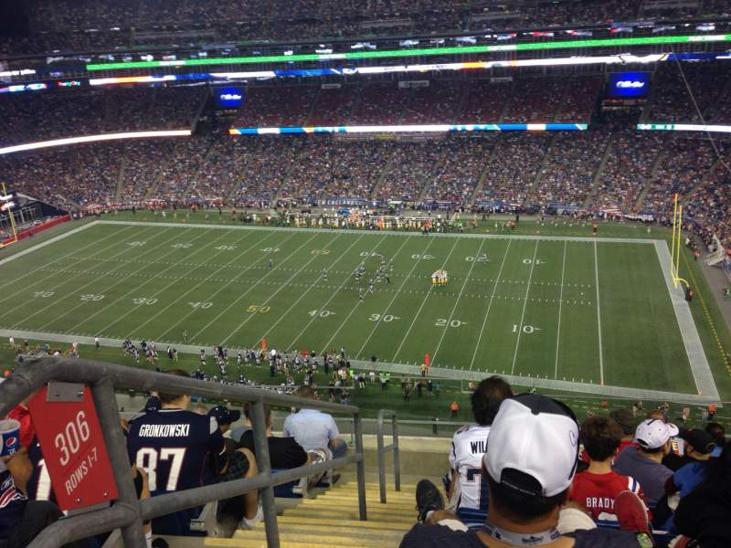 Seating view for Gillette Stadium Section 305 Row 8 Seat 22