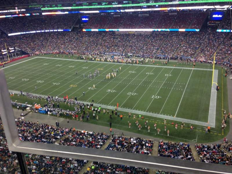 Seating view for Gillette Stadium Section 304 Row 7 Seat 12