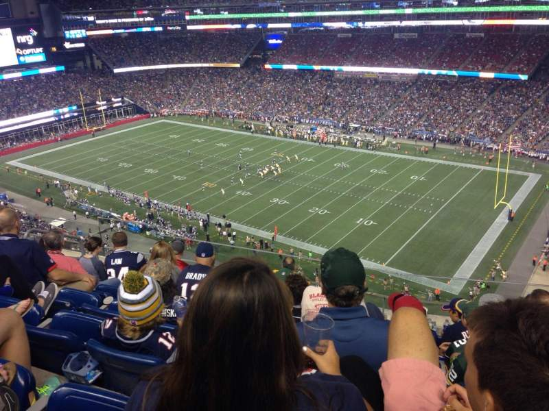 Seating view for Gillette Stadium Section 303 Row 16 Seat 1