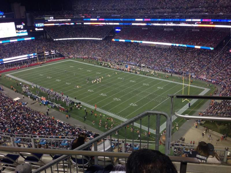 Seating view for Gillette Stadium Section 302 Row 2 Seat 20