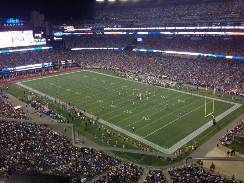Seating view for Gillette Stadium Section 301 Row 5 Seat 20