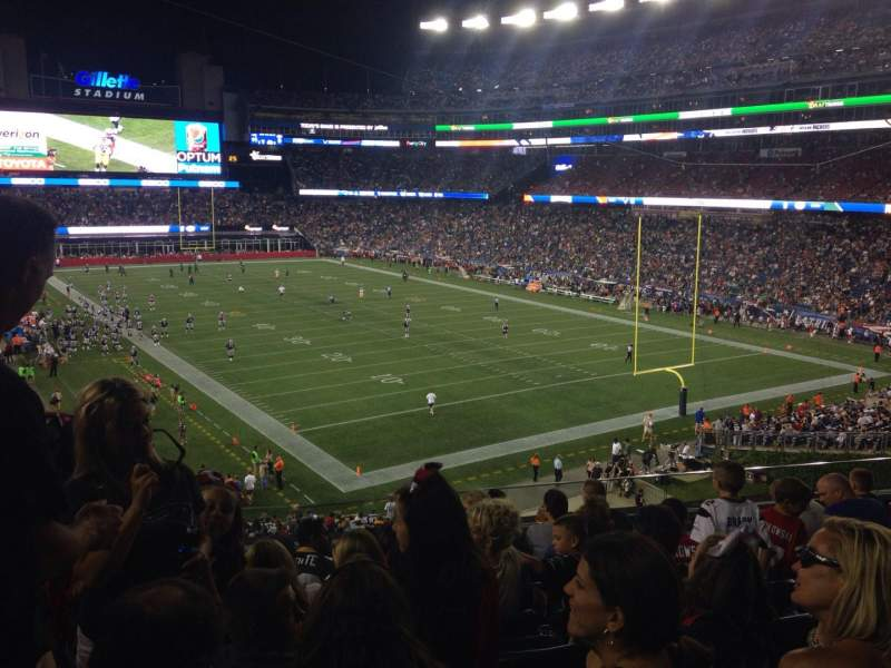 Seating view for Gillette Stadium Section 201 Row 9 Seat 17