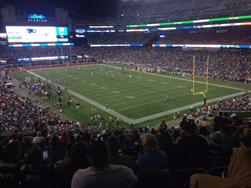 Seating view for Gillette Stadium Section 202 Row 18 Seat 9