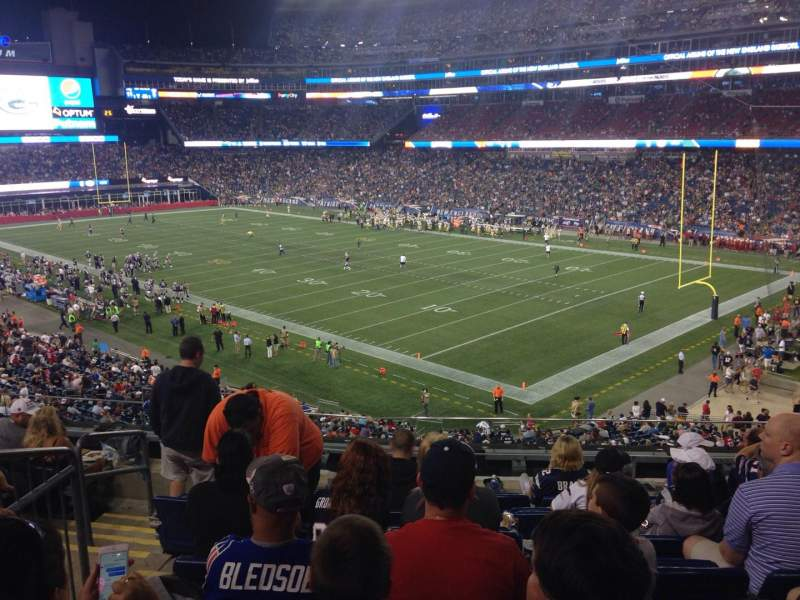 Seating view for Gillette Stadium Section 203 Row 8 Seat 16