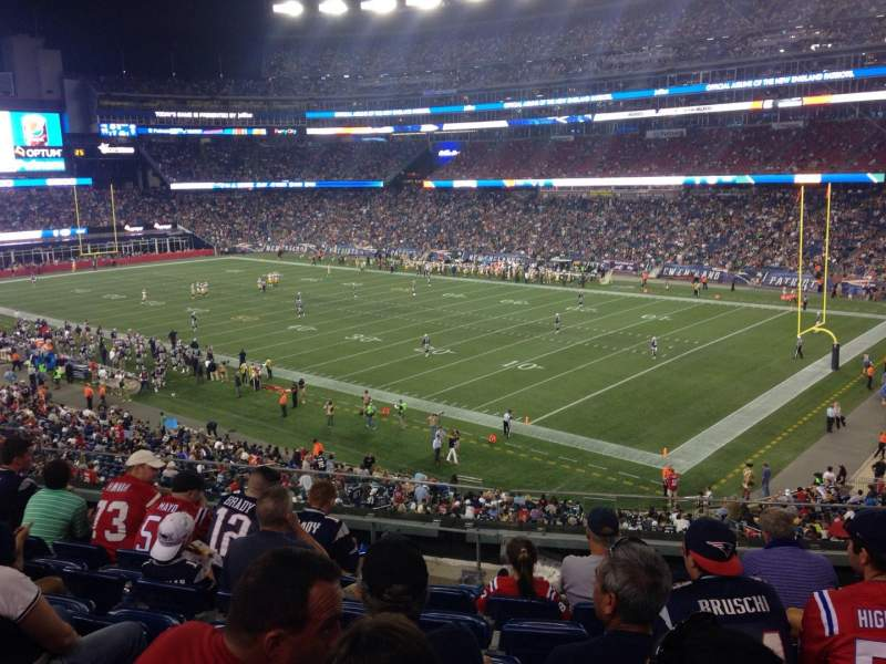 Seating view for Gillette Stadium Section 204 Row 7 Seat 7