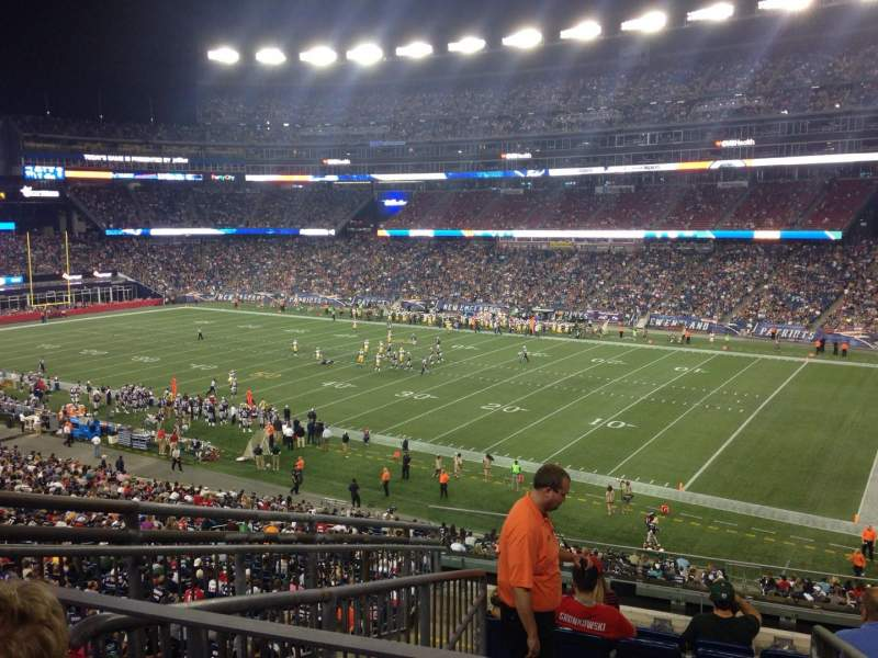 Seating view for Gillette Stadium Section 205 Row 9 Seat 21