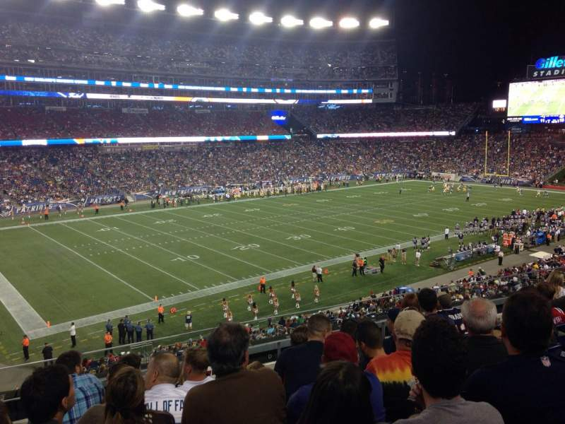 Seating view for Gillette Stadium Section 214 Row 7 Seat 18