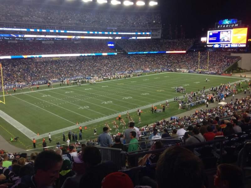 Gillette Stadium, section: 215, row: 3, seat: 4