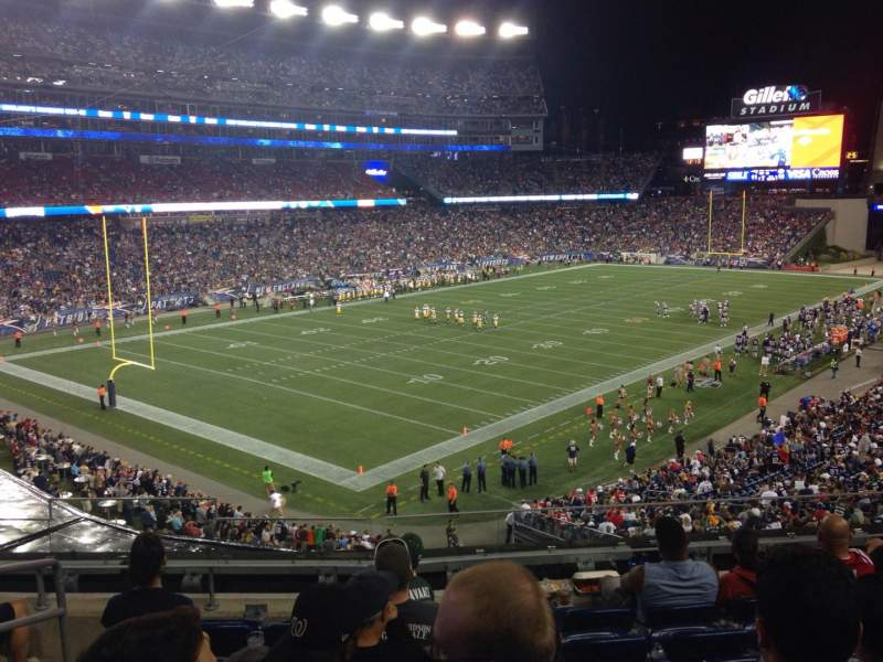 Seating view for Gillette Stadium Section 216 Row 7 Seat 17