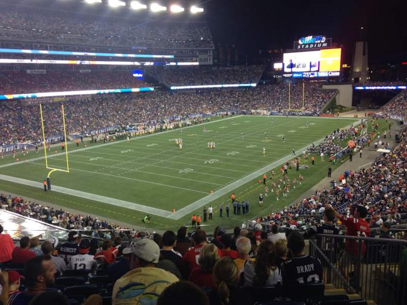 Seating view for Gillette Stadium Section 217 Row 12 Seat 6