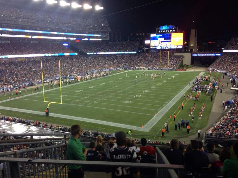 Seating view for Gillette Stadium Section 218 Row 9 Seat 16