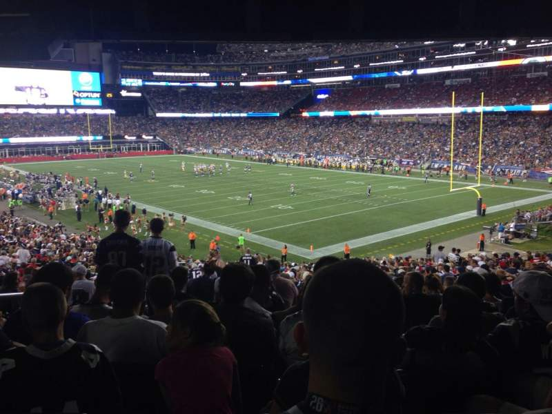 Seating view for Gillette Stadium Section 102 Row 38 Seat 22