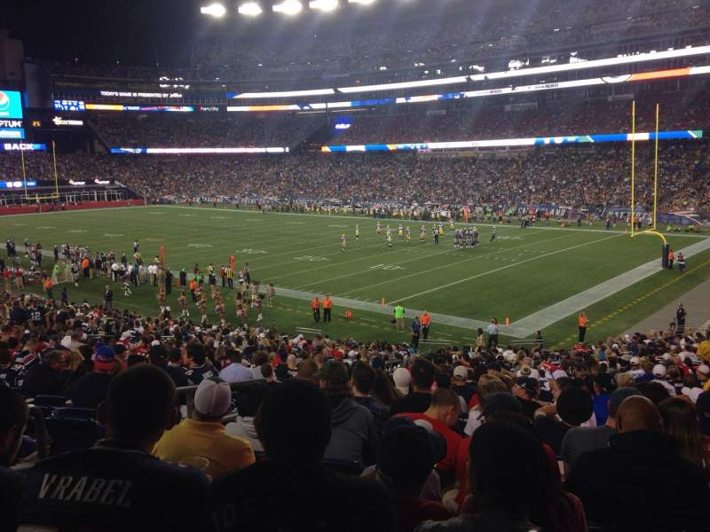 Seating view for Gillette Stadium Section 103 Row 32 Seat 18